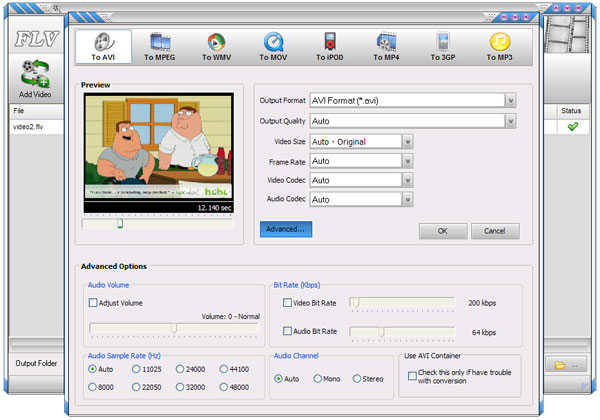 Click to View Full ScreenshotFlv Converter 2.5 screenshot